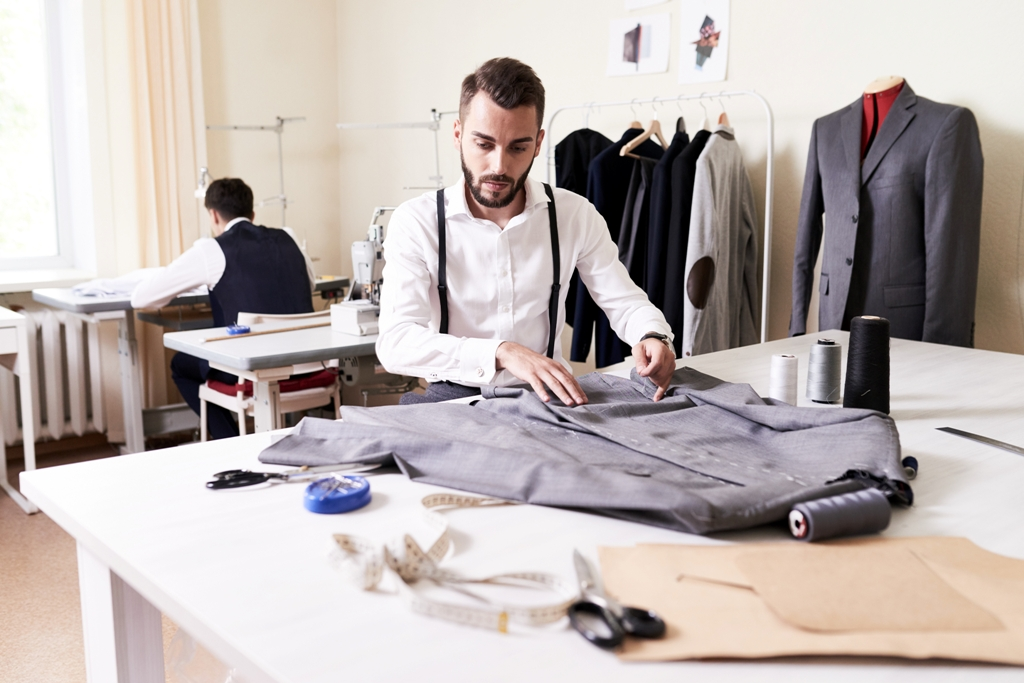 Male fashion designer tailor made clothes
