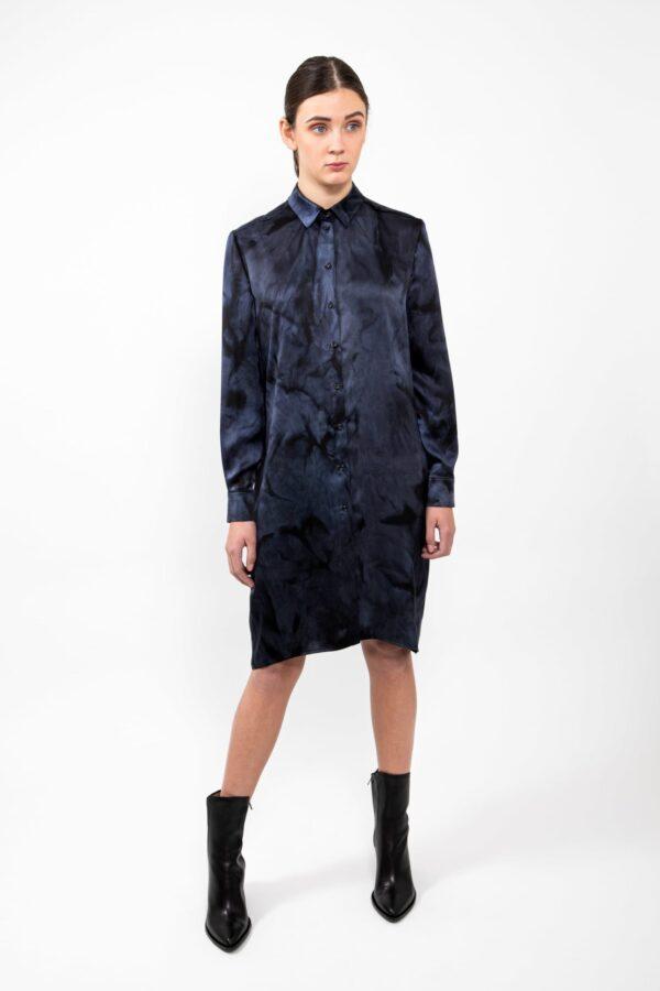 Blouse dress - Black/blue