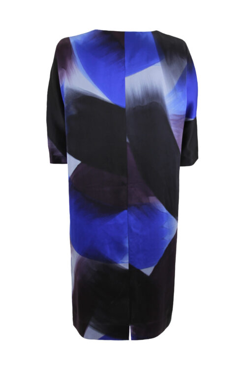 Silk Dress blue brush back
