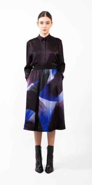 Skirt Blue Brush