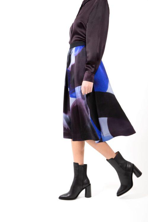 Sideview of Skirt 501 Blue Brush