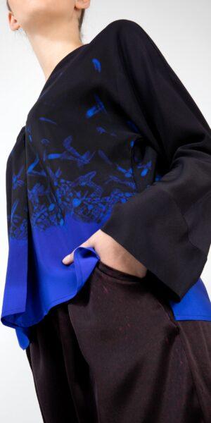 Silk Top - Blue bird