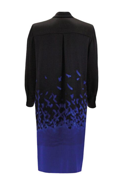 Silk blouse dress