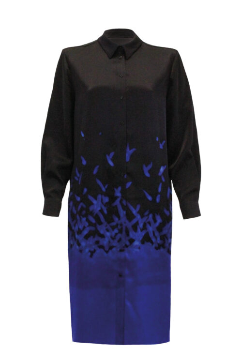 Silk blouse dress front