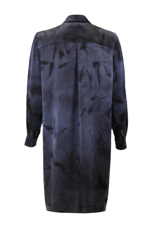 Silk blouse dress black blue