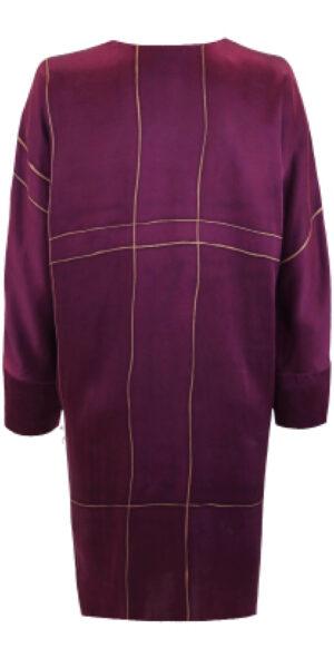 Silk dress red and golden stripe