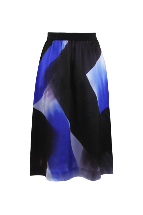 Silk skirt brush back