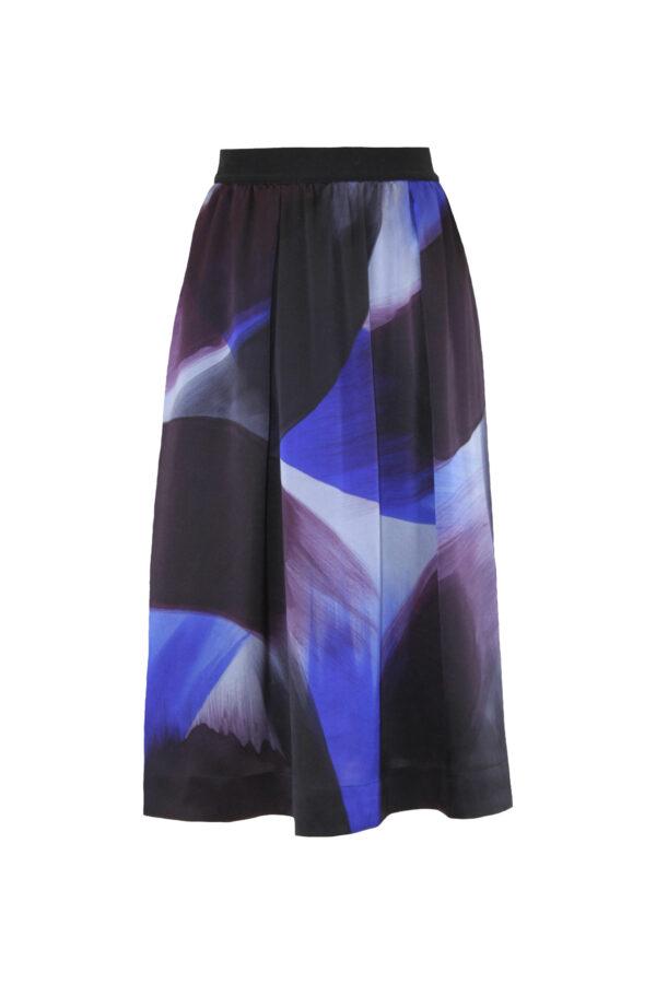 Silk skirt brush front