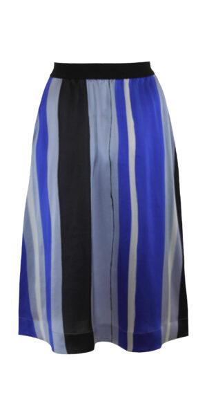 Silk skirt striped back